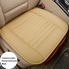 Beige Universal Waterproof  Wear Leather  Cushion Car Front Seat Cover pad