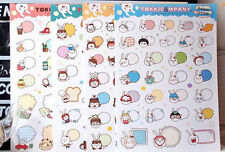 4 sheets lovely rabbit expression dialog stationery diary decorative stickers