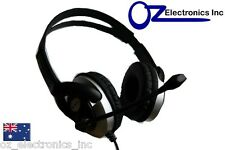 Headset Headphone Microphone for PC MAC SKYPE BRAND BLACK SILVER Live 3.5mm