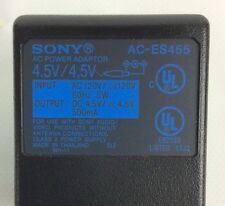 Sony AC-ES455K 220v-240v to 4.5v 500mAh Power Adapter for Mini Travel Speakers