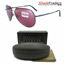 SERENGETI MEDIUM AVIATOR SUNGLASSES POLARIZED PHOTOCHROMIC GUNMETAL SEDONA 8088