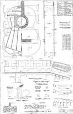 Torres  Classical  - Full scale Guitar PLANS   actual size for making guitars