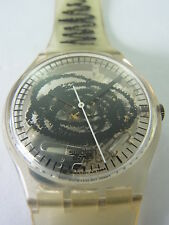 GK191 Swatch - 1995 Skizzo Transparent Graphic Artistic Swiss Made Authentic