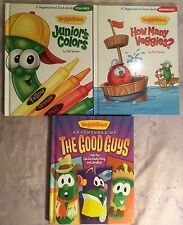 Veggie Tales Children's Books Adventures Of The Good Guys Colors Numbers Lot