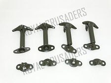 NEW WILLYS FORD JEEP HOOD BONNET LATCH KIT MILITARY GREEN SET OF 4 (code1553)