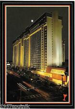 MGM Grand closed Las Vegas Hotel Vintage Casino postcard Strip Night c. 1984 g