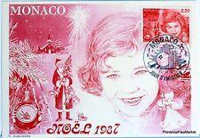 Yt 1599 NOEL 1987 MONACO CARTE MAXIMUM 1° JOUR FCP