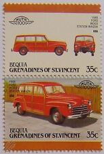 1948 FORD WOOD STATION WAGON Car Stamps (Leaders of the World / Auto 100)