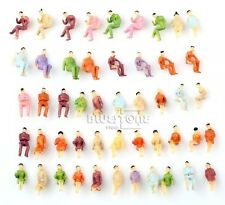Lot Of 50 New Model Train Seated Painted Figures 1:100 Scale US Seller