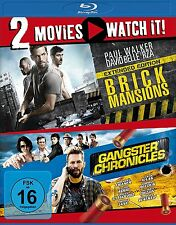 2 Blu-rays * 2 MOVIES - BRICK MANSIONS / GANGSTER CHRONICLES # NEU OVP §