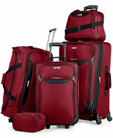 Tag Springfield III 5-Piece Luggage Set (Red / Blue)