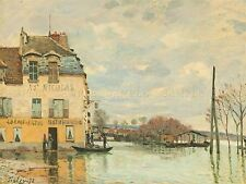 ALFRED SISLEY FRENCH FLOOD PORT MARLY OLD ART PAINTING POSTER PRINT BB4797A