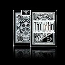Tally Ho Viper Fan Back Deck Black + Silver Playing Cards by Ellusionist New