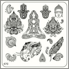 MoYou Nail Fashion Square Stamping Image Plate 470 Ethnic Style