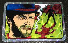 1980's Prism Sticker Clint Eastwood Vending Machine Arcade Foil Vintage 80's Fun