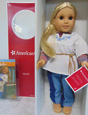 NEW American Girl JULIE DOLL & Paperback BOOK 70's Jeans Clothes Shoes Belt BNIB