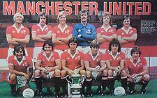 MAN UTD FOOTBALL TEAM PHOTO 1977-78 SEASON