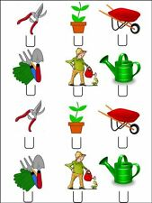 12 x GARDENING  STAND UPS Edible Rice Paper Cup Cake Decorations Toppers