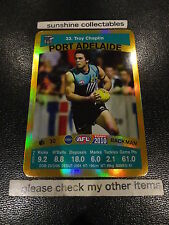 2010 AFL TEAMCOACH GOLD CARD PORT ADELAIDE CARD NO.33 TROY CHAPLIN
