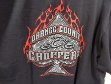 "Orange County Cycles OCC New York black tee shirt XXL ""old school-New rules"""