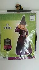 Lil Witch �� Halloween Costume�� -(purple and black) Child size small 4-6