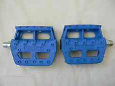 NOS Old School 80's MKS Style Pedals Stamped BMX 9/16 In Rare Blue,Haro,GT,Hutch