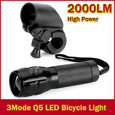 Bicycle Light 7 Watt 2000 Lumens 3 Mode CREE Q5 LED Bike Front Torch Headlight