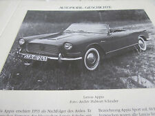 Internationales Automobil Archiv 1 Geschichte 1041 Lancia Appia ab 1953