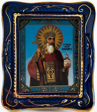 Orthodox Gzhel porcelain decal Icon Vladimir the Great Князь Владимир