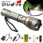 Tactical Police CREE XML T6 5000LM LED Zoomable Flashlight+18650 Battery+Charger
