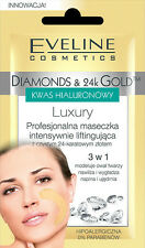 EVELINE Face Mask Intensely Lifting DIAMONDS & 24K GOLD Anti-Age HYALURONIC ACID