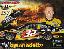 "SIGNED 2017 MATT DIBENEDETTO ""CAN-AM"" #32 MONSTER ENERGY NASCAR POSTCARD"