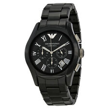 Emporio Armani Chronograph Black Dial Black Ceramic Mens Watch AR1400