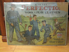 RARE BARTEL Work wear Overall ad sign disp pre WW1 lee
