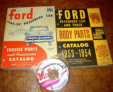 1953 1954 Ford Chassis Body Parts Manual Set Fairlane Victoria Fordor & Parts CD