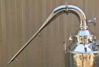 "3"" Stainless Pot Still Column With Built in Condenser, Whiskey, Moonshine Head"