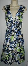Black Label blue/multi floral day to night versatile dress 12 NWT 86.00