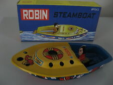 CANDLE POWERED STEAM BOAT ROBIN POP POP PUTT PUTT BOAT VINTAGE REPLICA NEW!