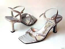 new Versani 2170 gray lizard leather open-toe ankle strap sandals Shoes Italy 7