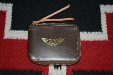 Ralph Lauren RRL Dark Brown Leather Zip Around Wallet