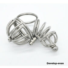 Stainless steel Male chastity devices Short Cage Urethral Tube Domina A071