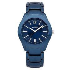 Señoras Oasis Azul Metal Reloj De Pulsera-b1310 - a Estrenar.