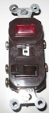 Slater 695-BR 3-Way Toggle Switch & Pilot LIght, Brown