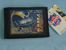 ST. LOUIS (now Los Angeles) RAMS  Sublimation Logo TriFold Wallet  NWT