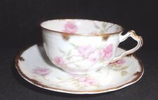Vintage Haviland Limoges Baltimore Rose Cup & Saucer E