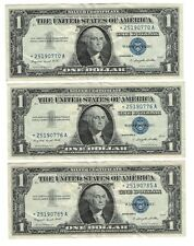 Lot 3x 1957-A Silver Certificate Star Note Not Consecutive But Close Blue Seal