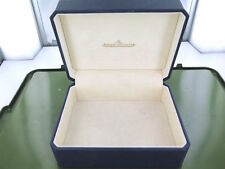 .VINTAGE / COLLECTABLE JAEGER LeCOULTRE NAVY BLUE LEATHER DISPLAY BOX.