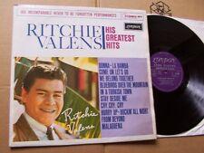 RITCHIE VALENS,HIS GREATEST HITS lp vg+/vg(+) london rec. HA8196 1.Print England