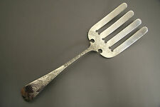 J.E. CALDWELL STERLING SILVER ASPARAGUS SERVER BRIGHT CUT JAPANESQUE DESIGN