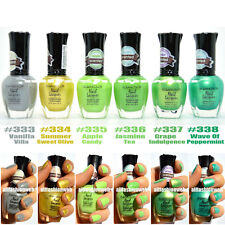 6 KLEANCOLOR ECLECTIC ENSEMBLE SWEET SCENTED NAIL POLISH LACQUER - JUNGLE KNP21